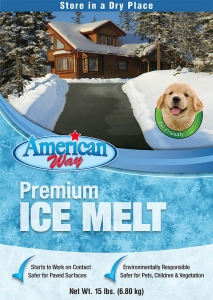 American Way Premium Pet Friendly Ice Melt 15lbs