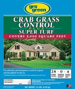 Gro Green Crabgrass Control Plus Super Turf 14lbs
