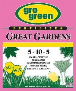 Gro Green Great Gardens Fertilizer 20lbs
