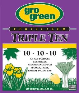 Gro Green Triple Ten Fertilizer 20lbs