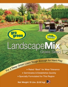 Gro Green Landscape Mix Grass Seed 15lbs