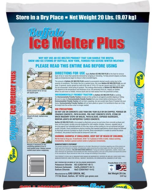 Buffalo Ice Melter Plus - 20 lbs - Back