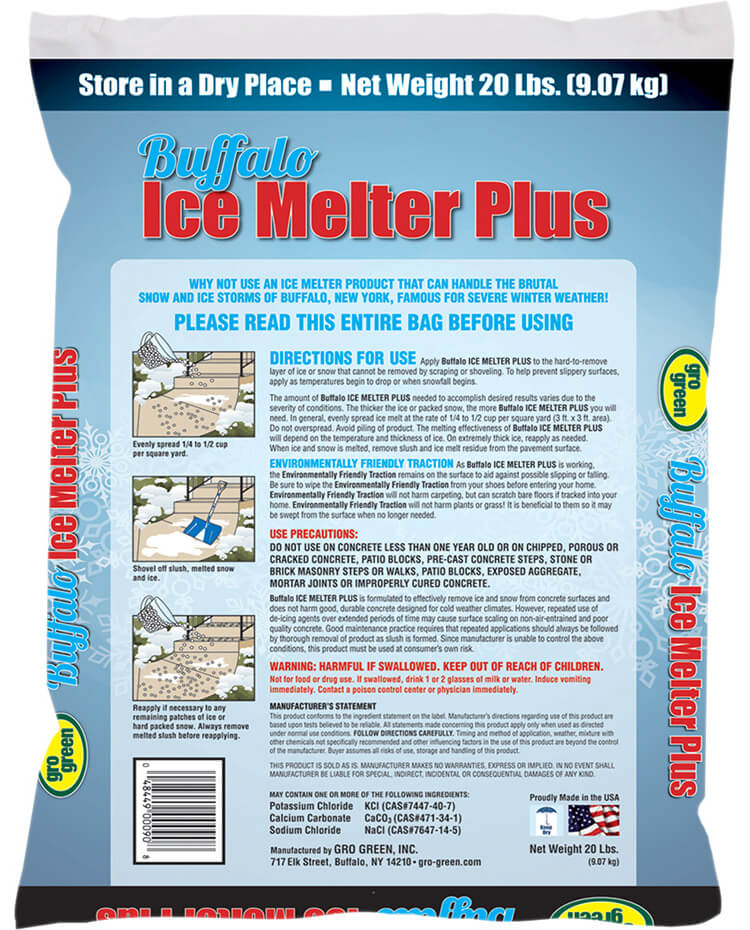Buffalo Ice Melter Plus - 20 lbs - Back