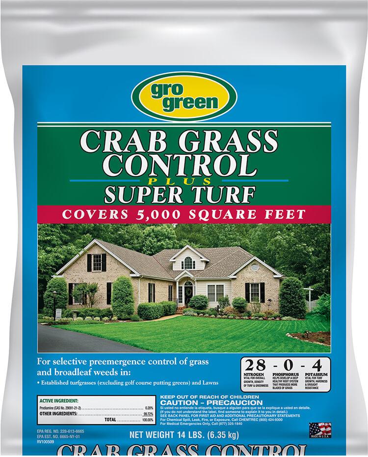 Gro Green Crabgrass Control Plus Super Turf - 14 lbs