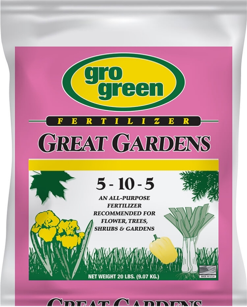 Gro Green Great Gardens 5-10-5 Fertilizer - 20 lbs