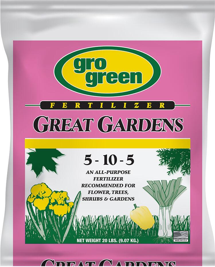 Gro Green Great Gardens 5-10-5 Fertilizer - 20 lbs