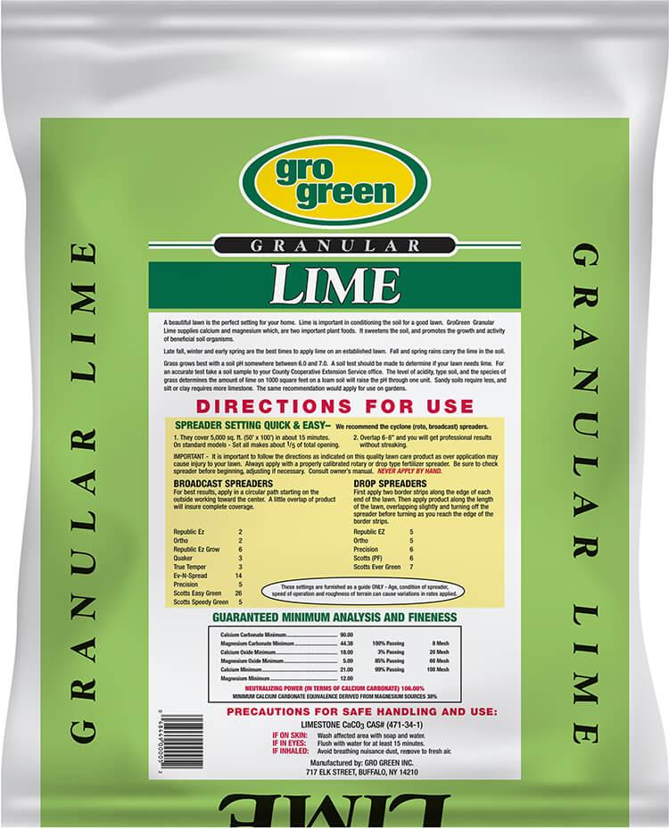 Gro Green Lime - 20 lbs - Back