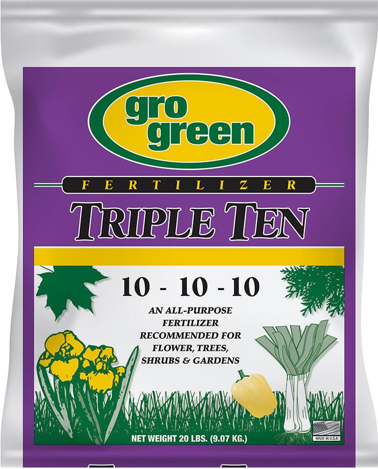 Gro Green Triple Ten 10-10-10 Fertilizer - 20 lbs