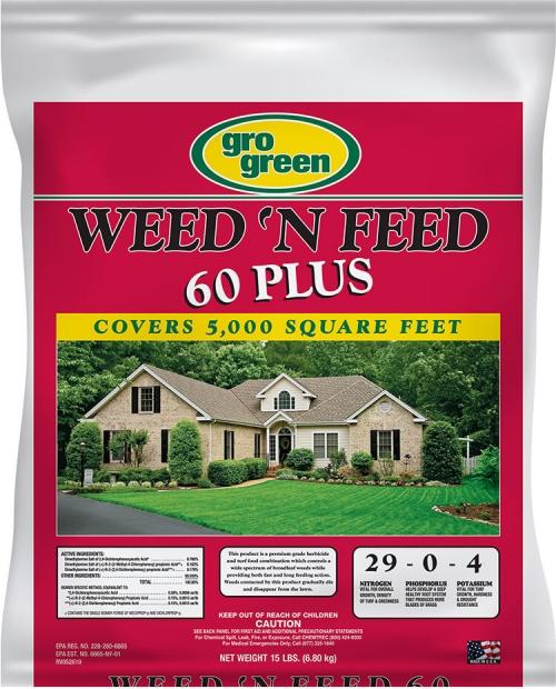 Gro Green Weed 'N Feed 60 Plus - 15 lbs