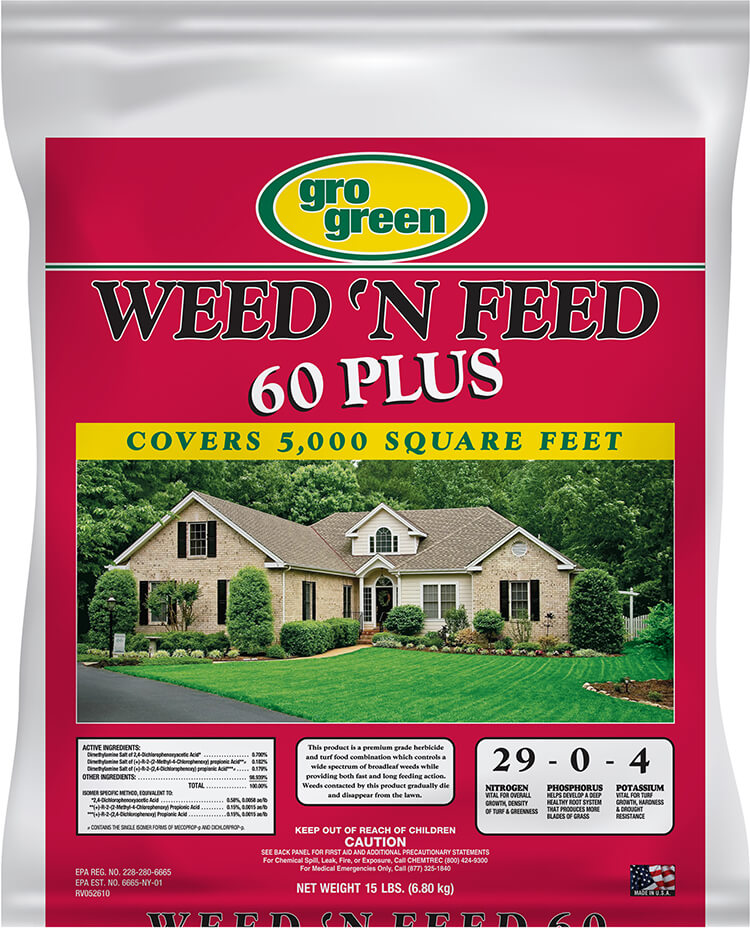Gro Green Weed 'N Feed 60 Plus - 15 lbs