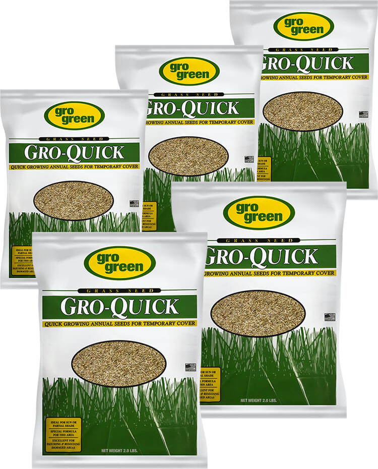 Gro Green Gro Quick Grass Seed - 2 lb. Bags - Pack of 5