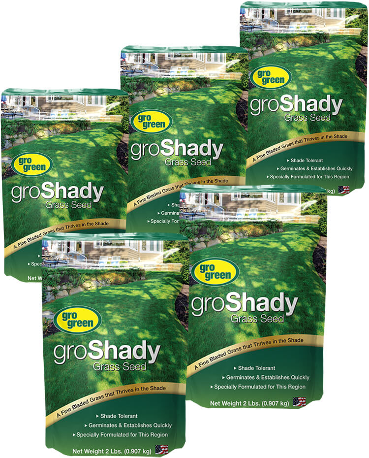 Gro Green groShady Grass Seed - 2 lb. Bags - Pack of 5