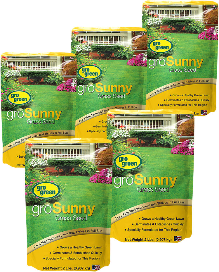 Gro Green groSunny Grass Seed - 2 lb. Bags - Pack of 5