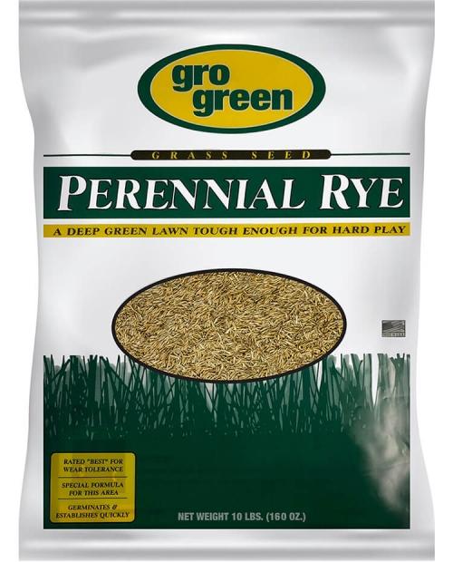 Gro Green Perennial Rye Grass Seed - 10 lbs